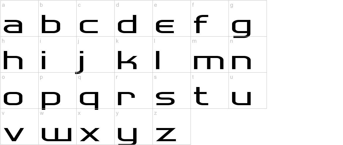 Hall Fetica lowercase