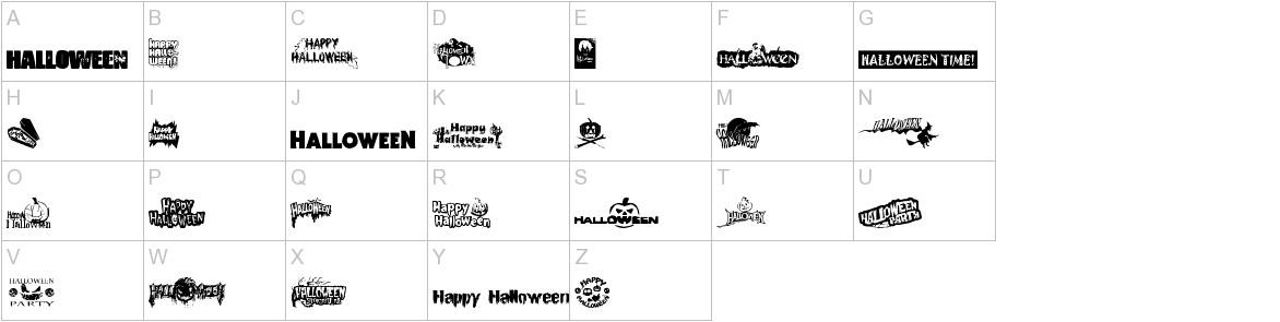 Halloween Logo uppercase