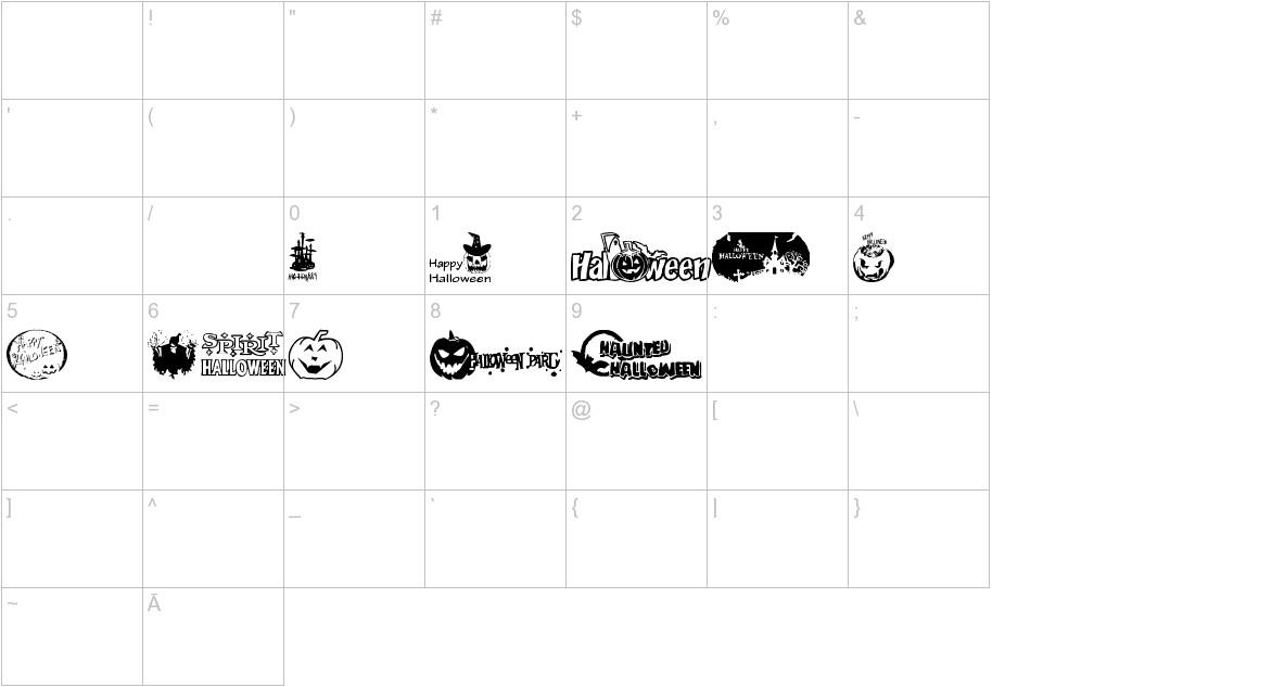 Halloween Logo characters