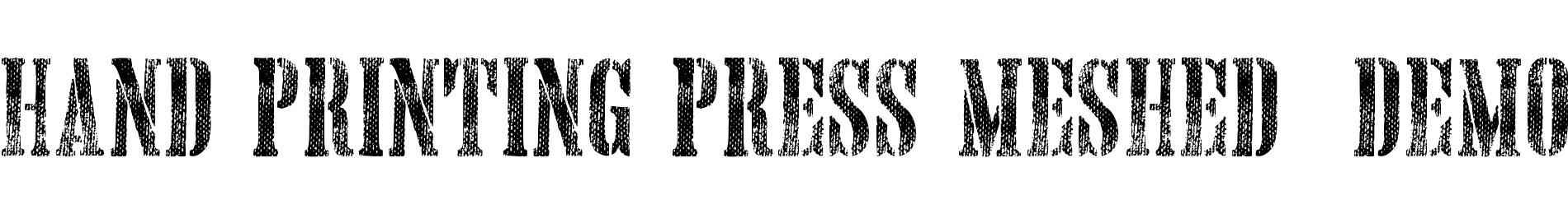 Hand Printing Press Meshed_demo