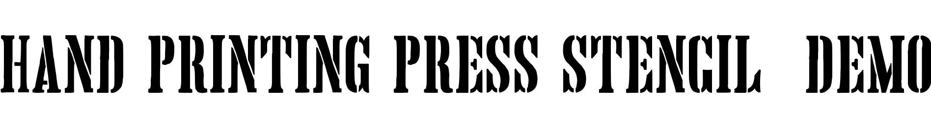 Hand Printing Press Stencil_demo