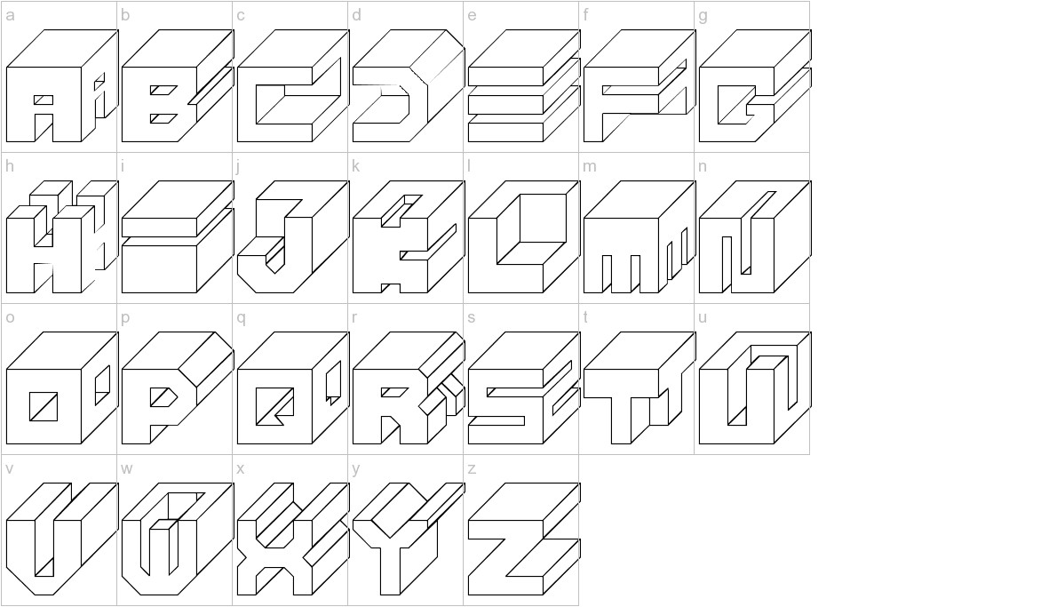 Cube lowercase