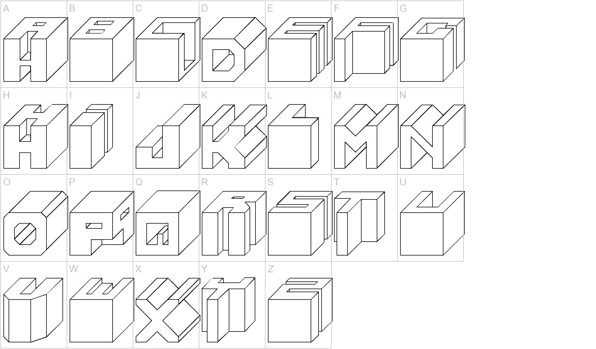 Cube uppercase