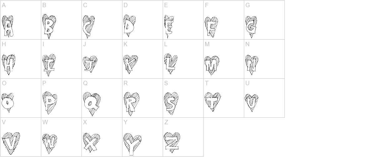 HeartStripe uppercase
