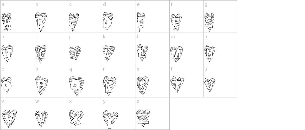 HeartStripe lowercase
