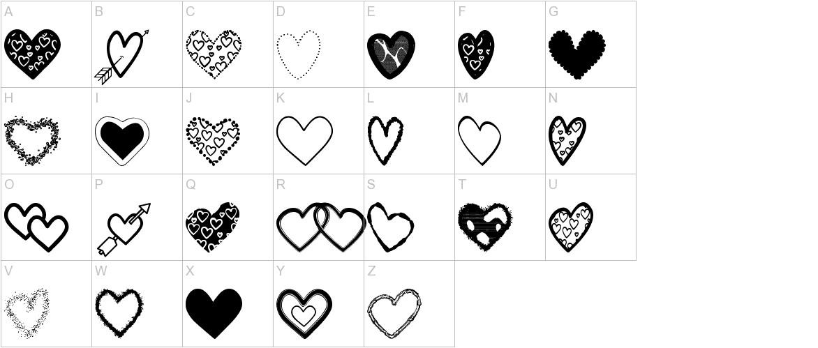 Hearts Shapes Tfb uppercase