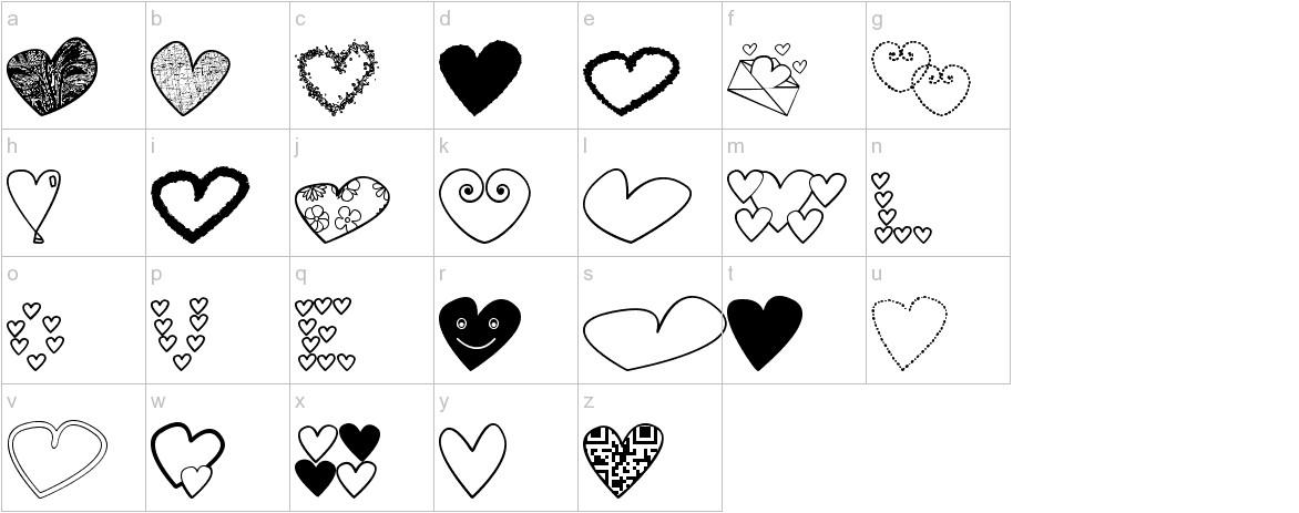 hearts shapess tfb lowercase