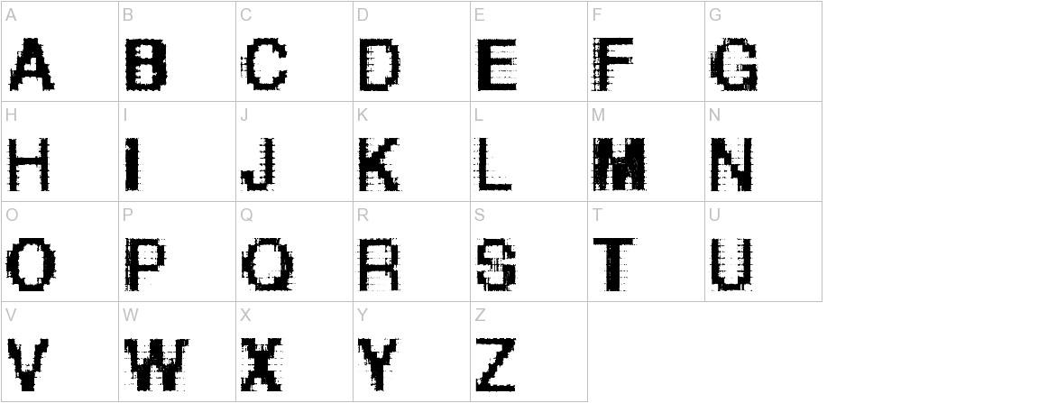 Helvetica-grosse-bit uppercase