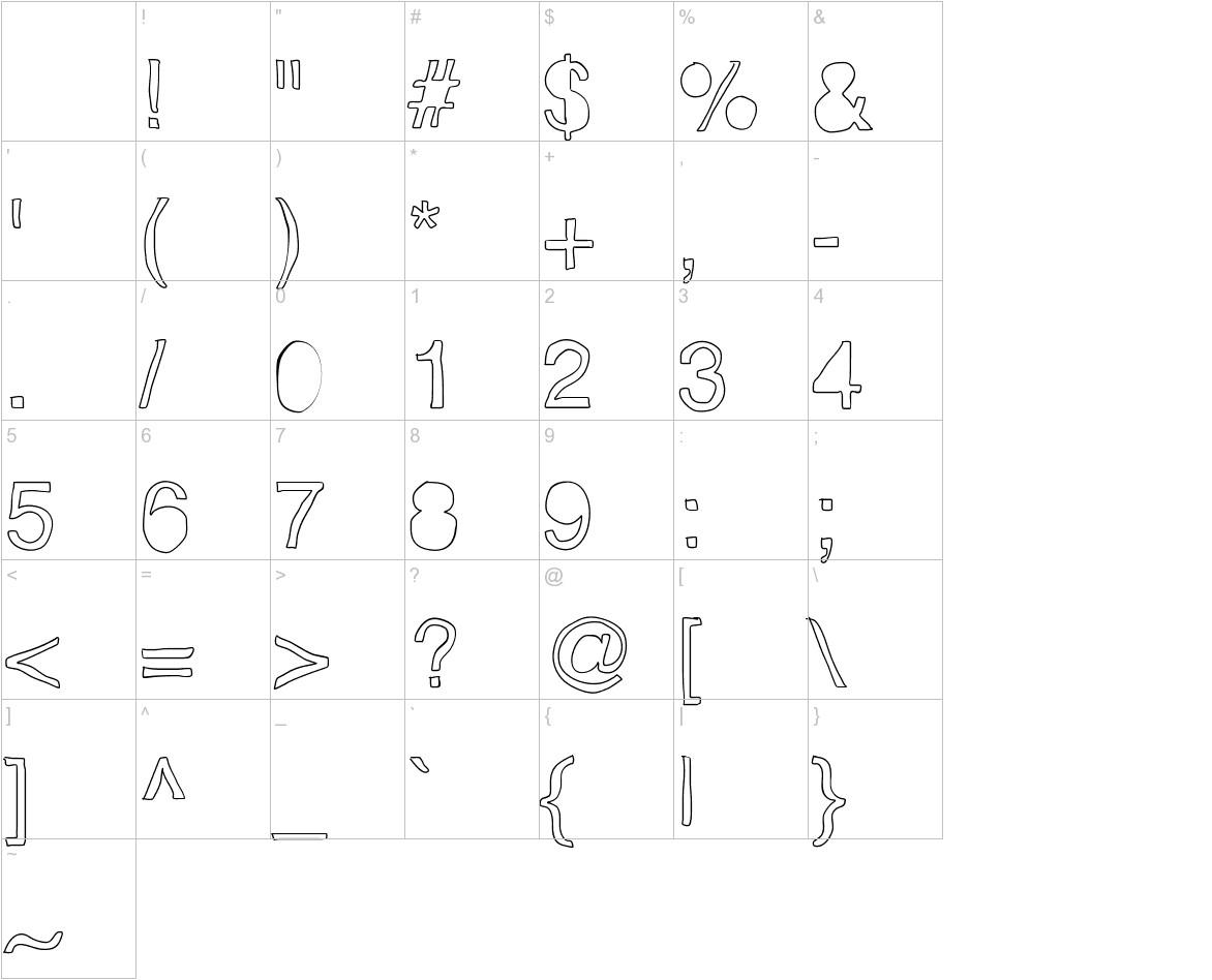 Helveticamazing characters