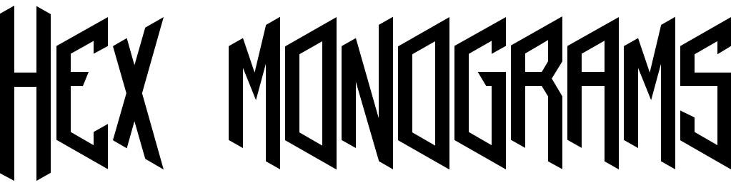 Hex monograms