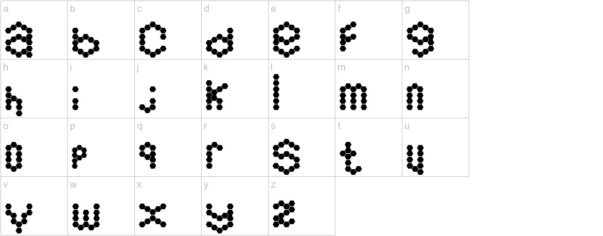 Hexamatter lowercase