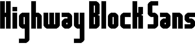 Highway Block Sans