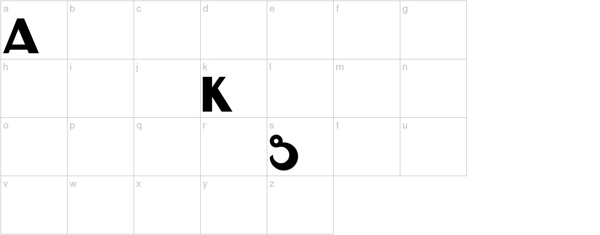 HK DISPLAY KK lowercase