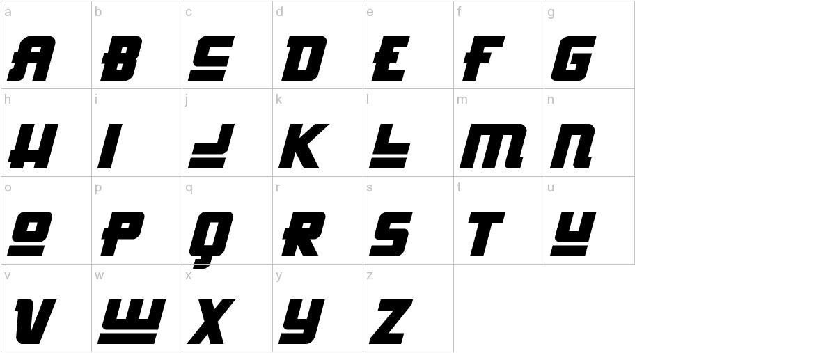 Hong Kong Hustle Italic lowercase