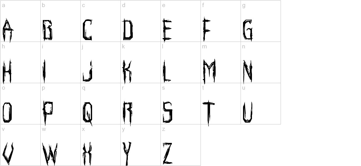 Horroroid Staggered lowercase
