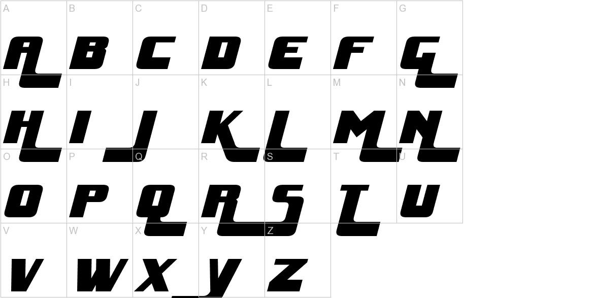 Huggy Bear Italic uppercase