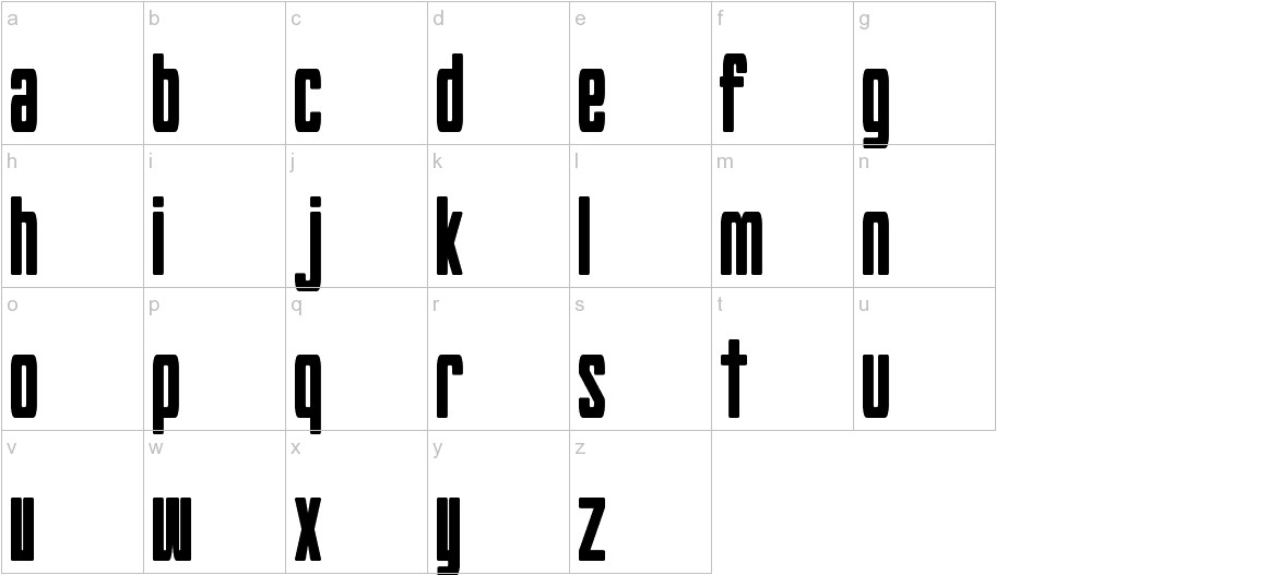 Hyouzi Display lowercase
