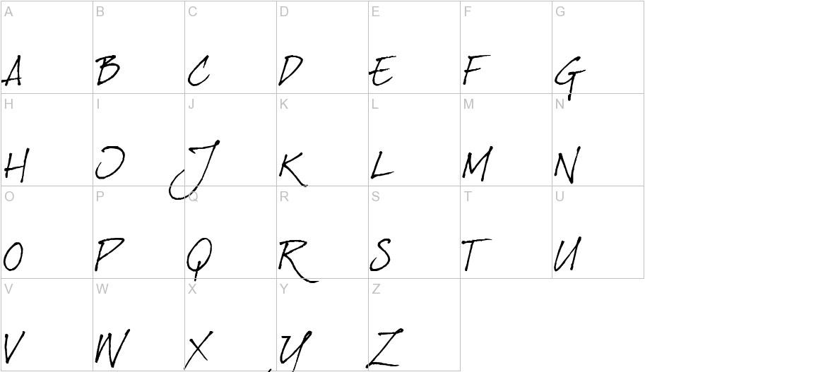 dearJoe Italic uppercase