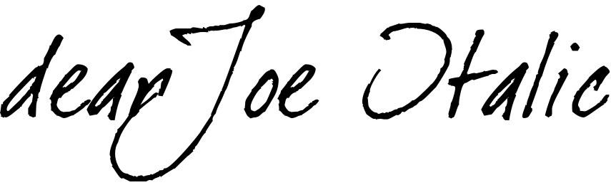 dearJoe Italic