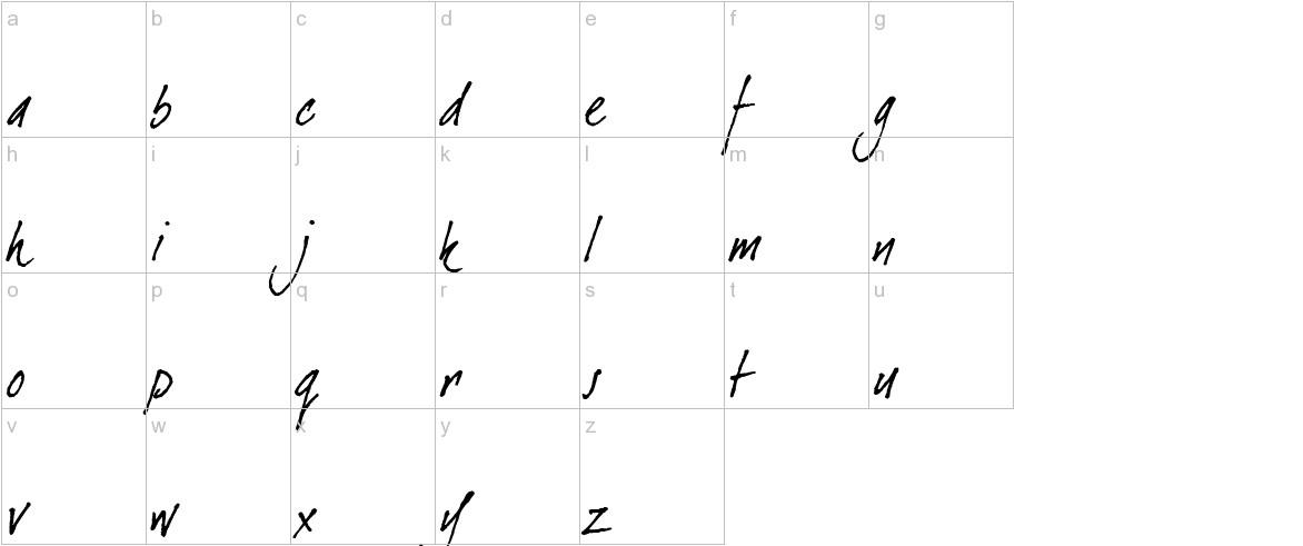dearJoe Italic lowercase