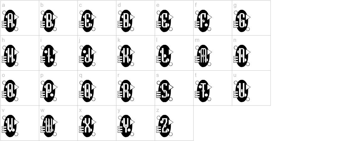 Decorette lowercase