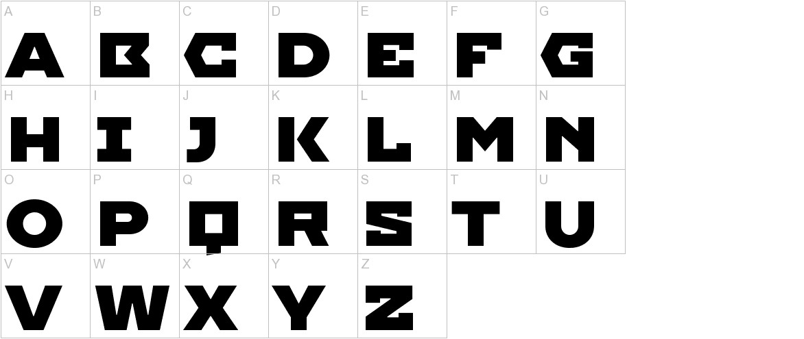 Imperial One uppercase