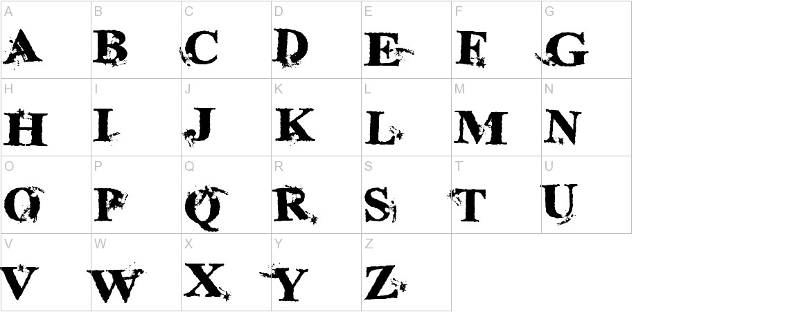 InkSpecial uppercase