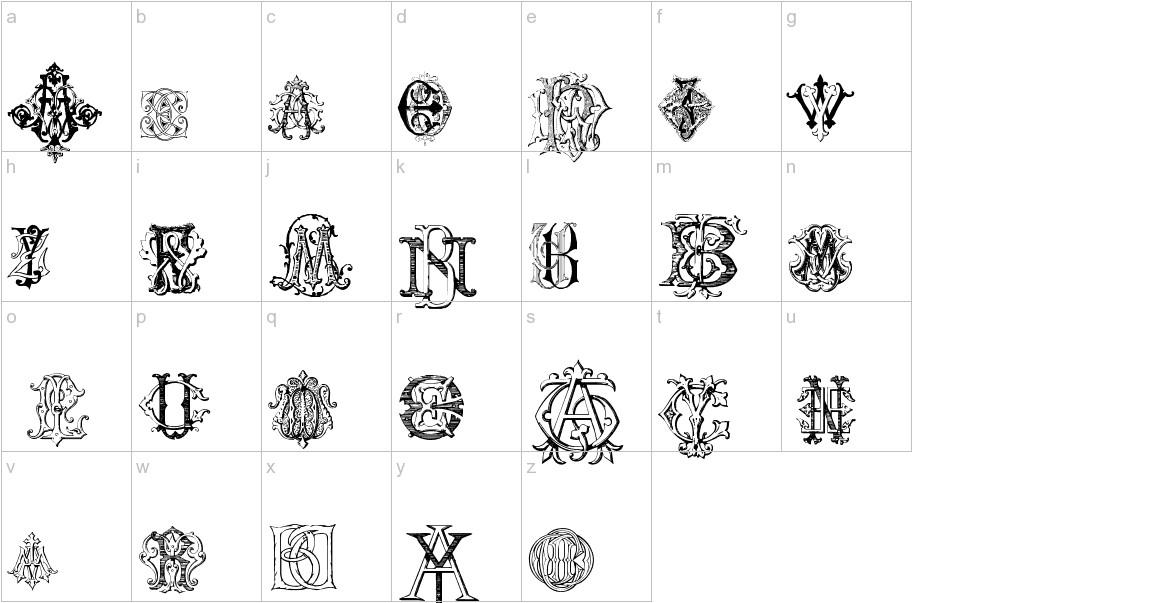 Intellecta Monograms Random Samples lowercase