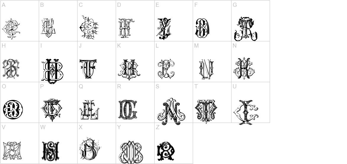 Intellecta Monograms Random Samples uppercase