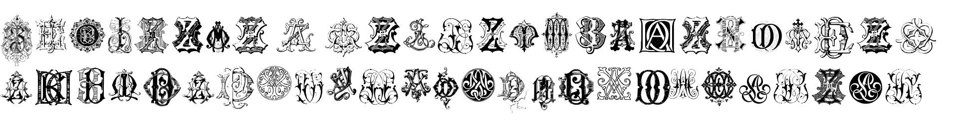 Intellecta Monograms Random Samples Eight