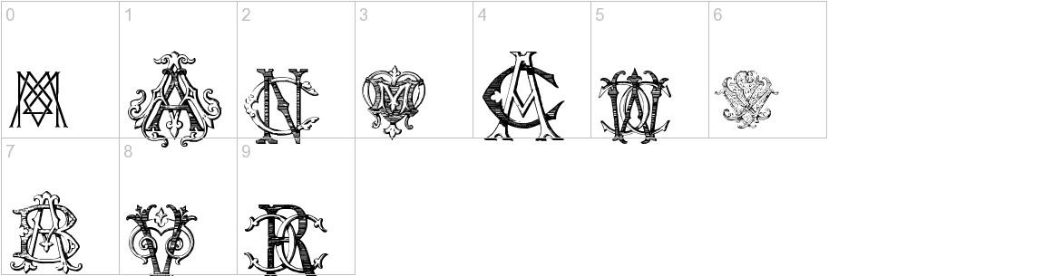 Intellecta Monograms Random Samples Five characters