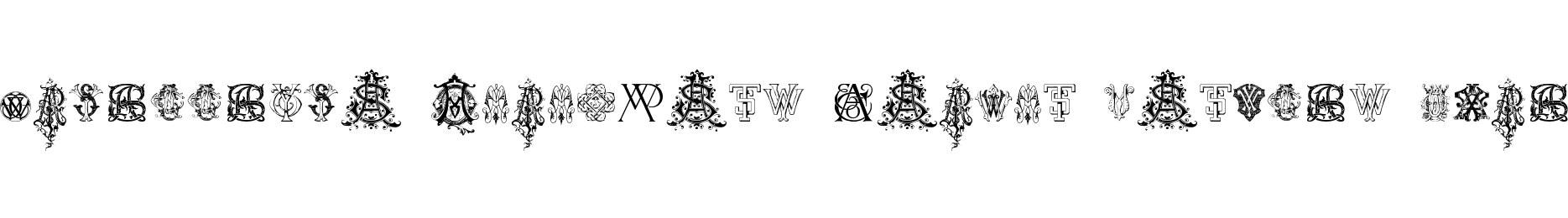Intellecta Monograms Random Samples Nine