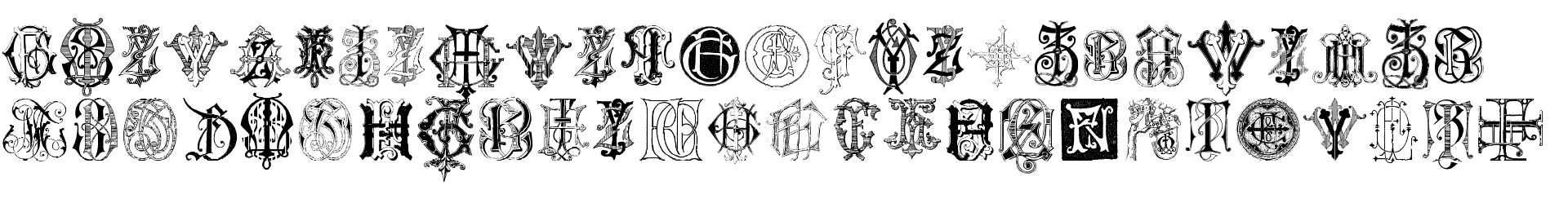 Intellecta Monograms Random Samples Seven