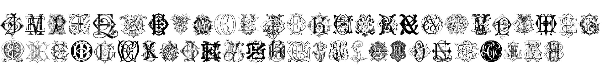 Intellecta Monograms Random Samples Six
