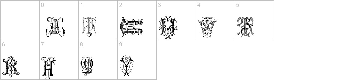 Intellecta Monograms Random Samples Two characters
