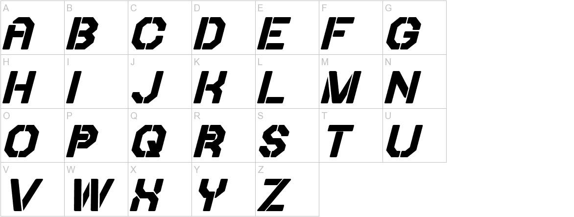 Iori Bold Italic uppercase