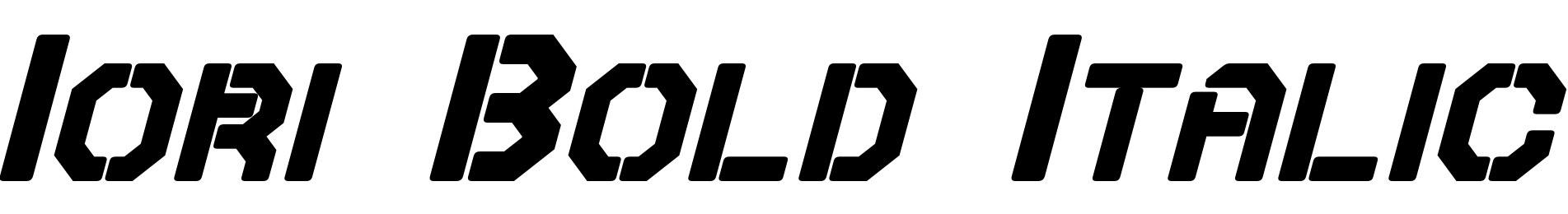 Iori Bold Italic