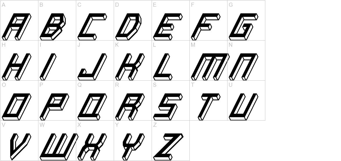 Italic Bricks uppercase