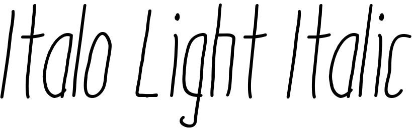 Italo Light Italic