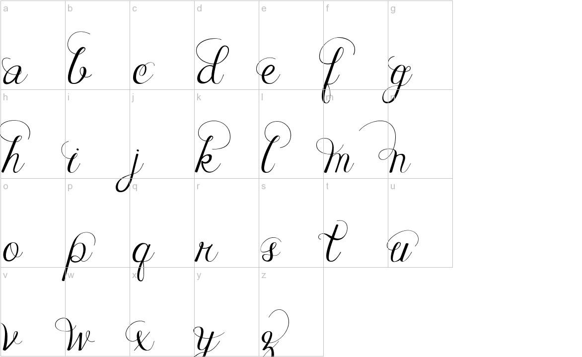 Janda Celebration Script lowercase