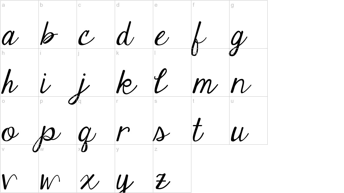 Janda Elegant Handwriting lowercase
