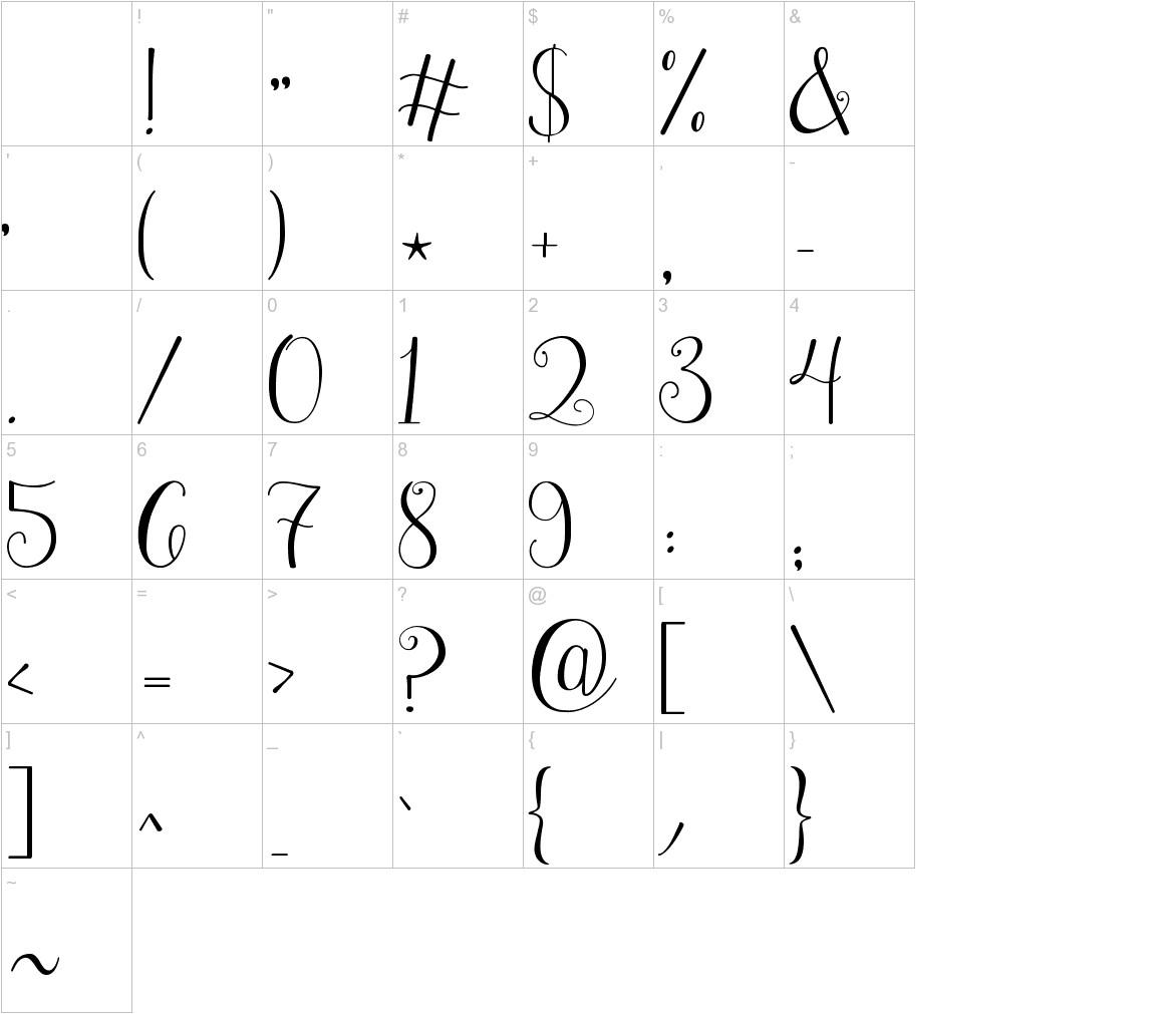 Janda Stylish Monogram characters