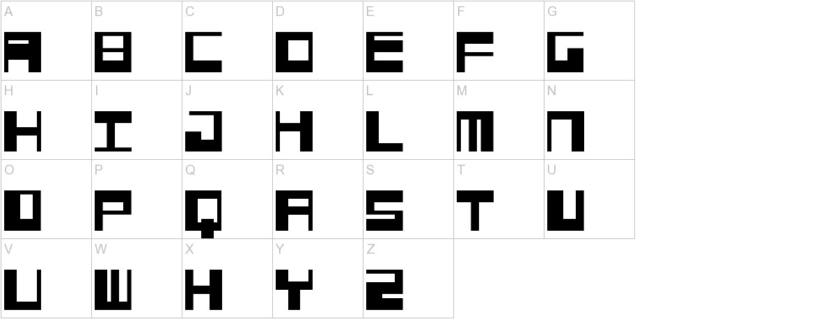 Jangotype uppercase