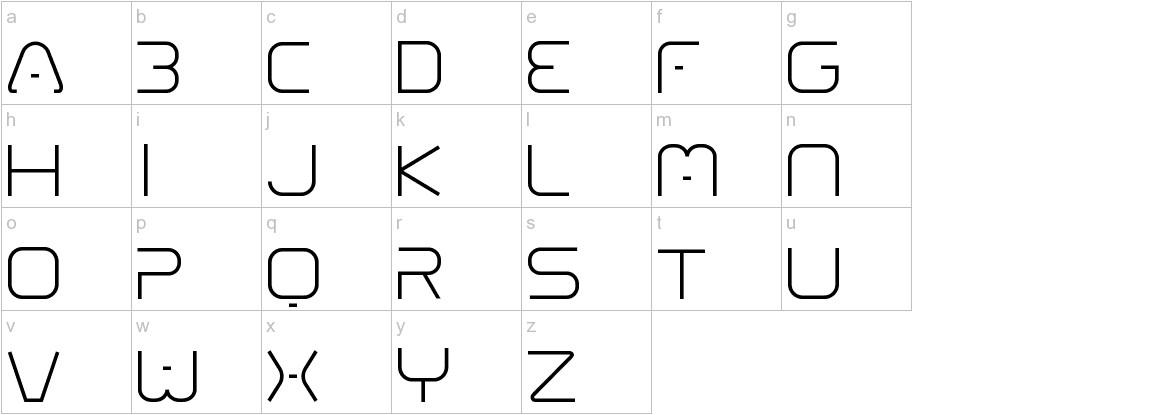 01 Digitall lowercase