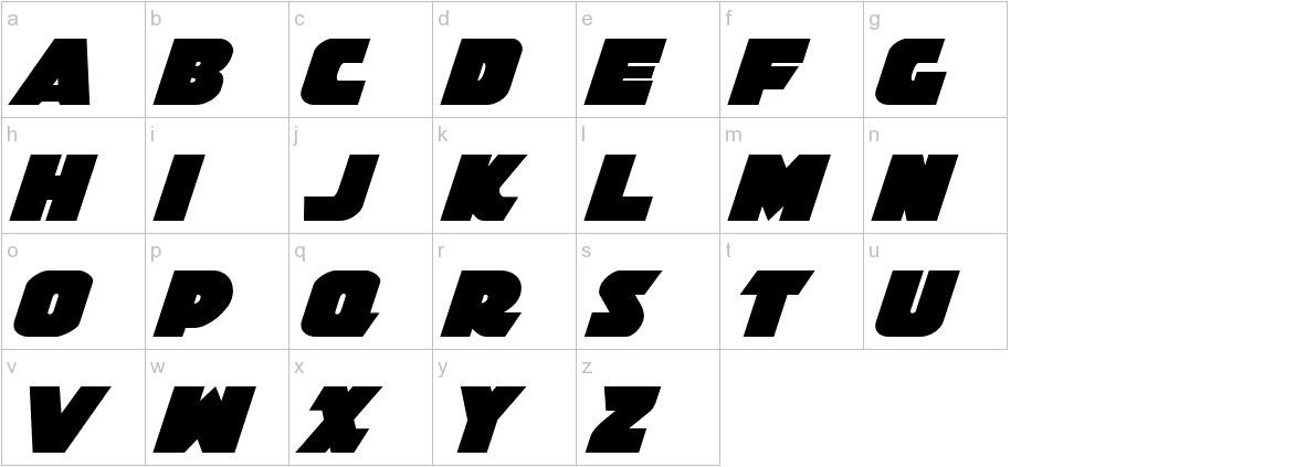 Jedi Special Forces Italic lowercase