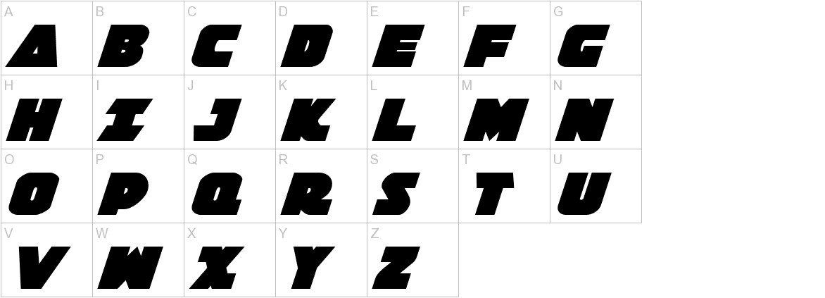 Jedi Special Forces Italic uppercase