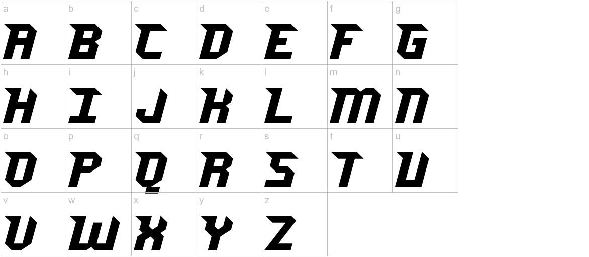 Jersey Sharp lowercase