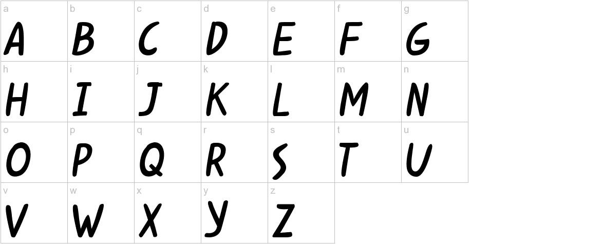 Kabuh Rivs lowercase