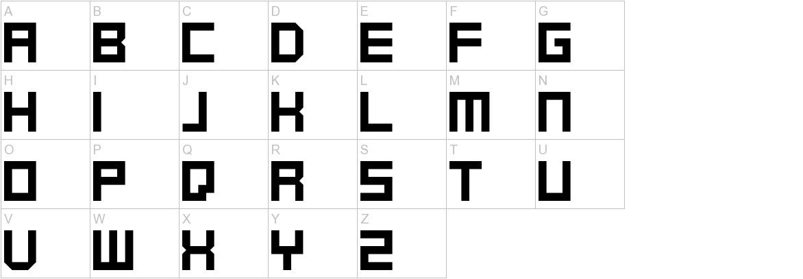 Kenney Future Square uppercase