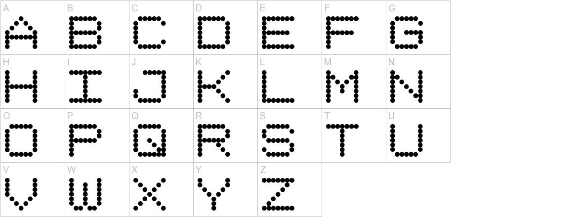 Dotimatrix 7 uppercase